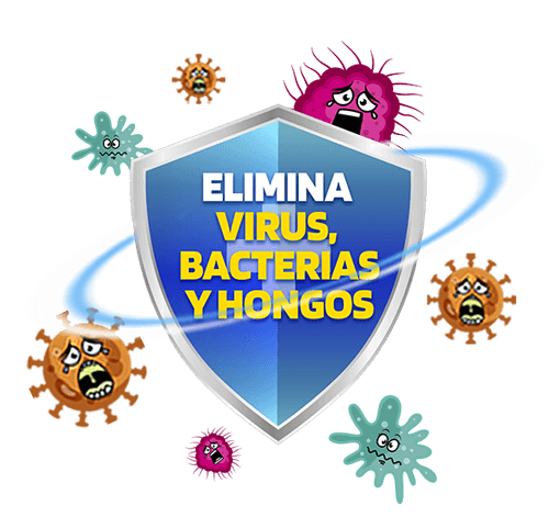 Desinfectante elimina virus, bacterias y hongos